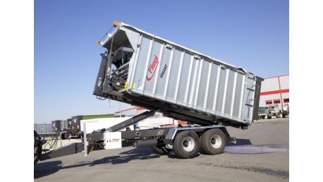 FLIEGL konteinerių pervežimo puspriekabė su kablio sistema