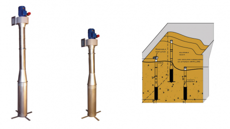 Įsukamas grūdų ventiliavimo įrenginys Air Lance