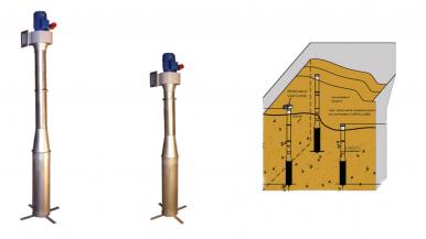 Pastatomas grūdų ventiliavimo įrenginys Air Pillar
