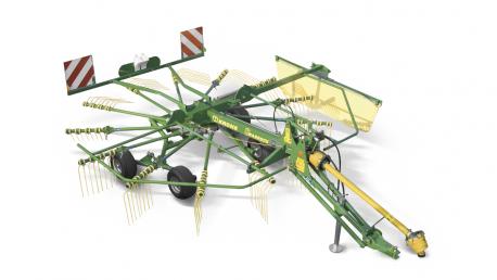 Swadro vieno rotoriaus grėblys