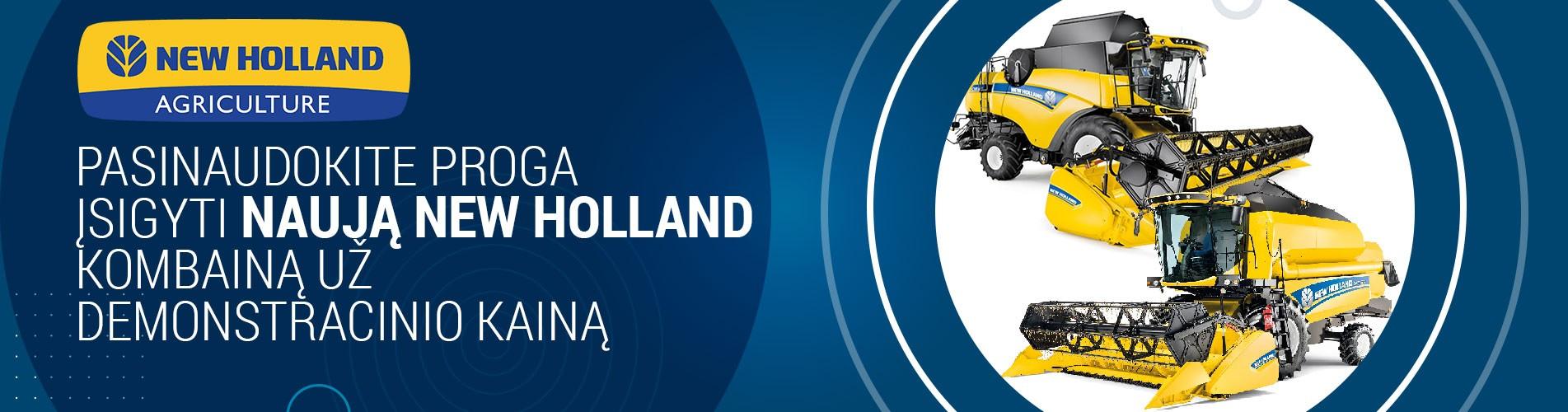Pasinaudokite proga įsigyti naują NEW HOLLAND kombainą už demonstracinio kainą