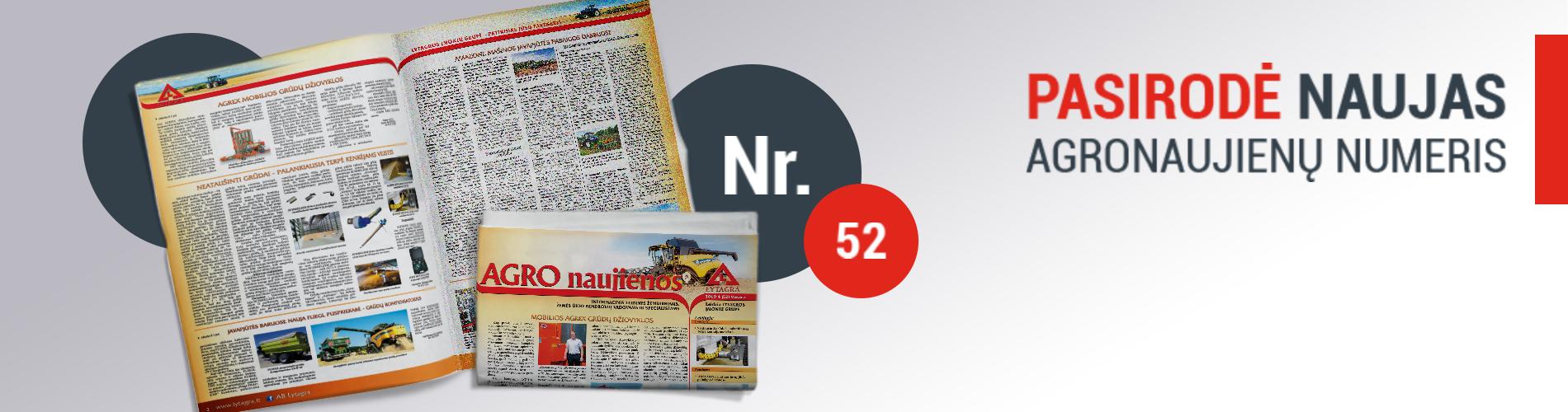 """NAUJAUSIAS informacinio ūkininkų leidinio """"AGRO naujienos"""" numeris"""
