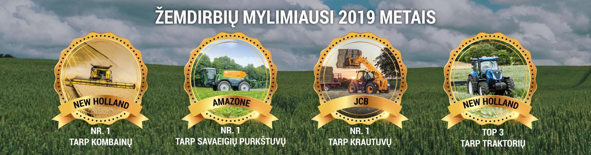 2019 metais žemdirbių labiausiai vertinta žemės ūkio technika