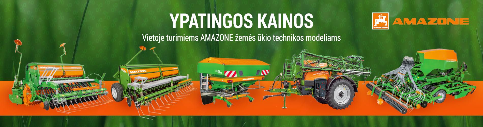 Ypatingos kainos vietoje turimiems AMAZONE žemės ūkio technikos modeliams